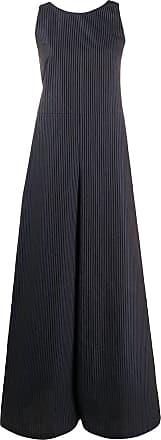 Ymc You Must Create Macacão pantalona com listras - Azul