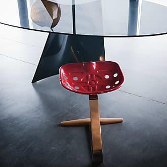 ZANOTTA Design Mezzadro Stool Chrome & Red