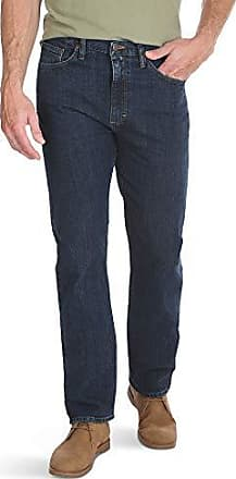 Wrangler Authentics Mens Classic 5-Pocket Regular Fit Jeans, Dark Indigo Flex, 30x32