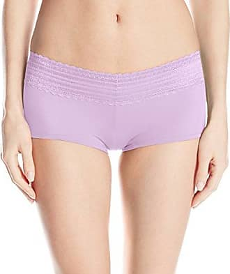 Warner's Womens No Pinches Lace Boy Short, Radiant Orchid, Small