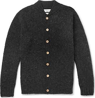 Ymc You Must Create Brushed-wool Cardigan - Charcoal