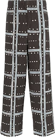 Homme Plissé Issey Miyake ladder check trousers - Grey