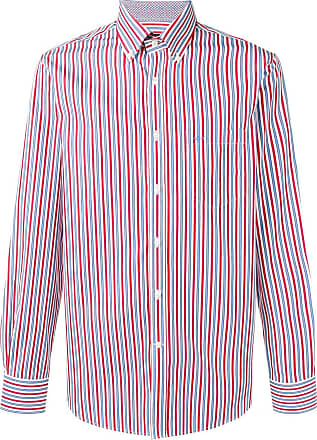 Paul & Shark striped poplin shirt - Vermelho
