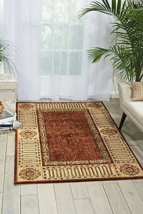 Nourison Vallencierre (VA27) Brown Rectangle Area Rug, 5-Feet 3-Inches by 8-Feet 3-Inches (53 x 83)