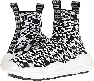 77458f99db27 Versus Checkerboard Socks Sneaker (Optic White Black Black Optic White) Mens