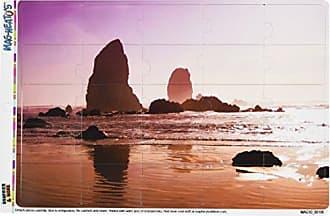 Graphics & More Oregon Beach Ocean Shore MAG-NEATOS Novelty Gift Locker Refrigerator Vinyl Puzzle Magnet Set