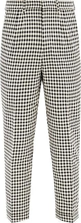 Ami Ami - Checked Pleated Cotton Trousers - Mens - Black White