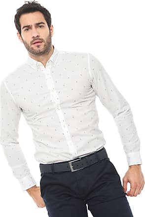 Jack & Jones Camisa Jack & Jones Slim Estampada Branca