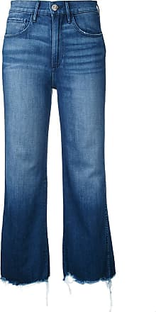 3x1 cropped flared jeans - Blue