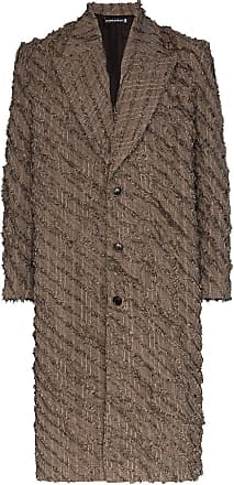 Y / Project slashed single-breasted coat - Brown
