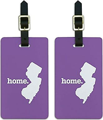 Graphics & More Graphics & More New Jersey Nj Home State Luggage Suitcase Id Tags-Solid Lavender Purple, White
