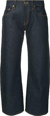 Khaite Calça jeans pantalona cropped Wendell - Azul
