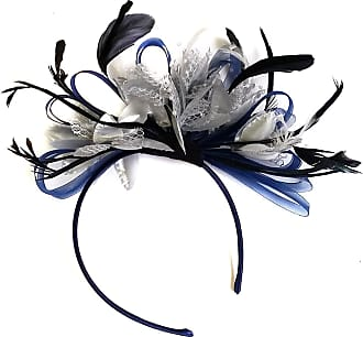 Caprilite Navy and Silver Fascinator on Headband for Women