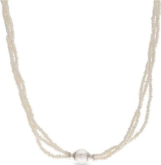 75e9e8fd7 Zales 2.0 - 10.0mm Baroque Cultured Freshwater Pearl Spool Collar Triple  Strand Necklace in Sterling