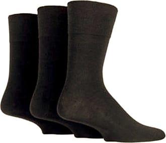 SockShop 6 Pairs Mens Sockshop Diabetic Gentle Grip Socks 6-11 UK 39-45 EUR see variations (Black)