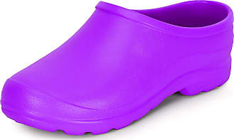 Ladeheid Womens and Mens EVA Clogs LADW001 (Purple, 12.5 UK)