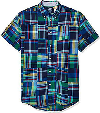 9165761bd Tommy Hilfiger Mens Adaptive Magnetic Short Sleeve Button Shirt Custom Fit