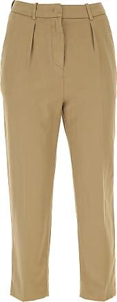b7a51d4913a034 Dondup Pantaloni Donna On Sale, Kaki, cotton+, 2017, 40 42 44 46