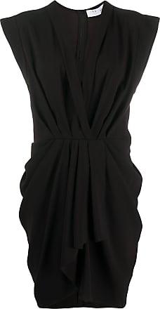 Iro draped v-neck dress - Black