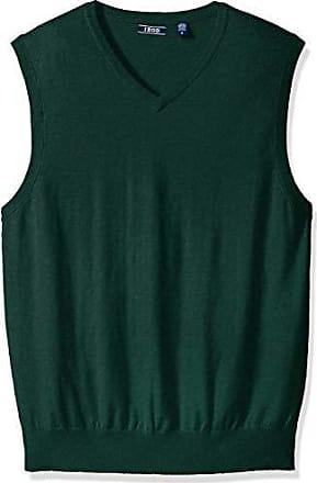 Izod Mens Premium Essentials Solid V-Neck 12 Gauge Sweater Vest, Botanical Garden, Small