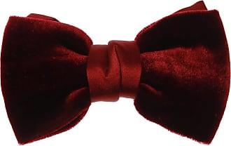 Lanvin Velvet Bow Tie Mens Burgundy