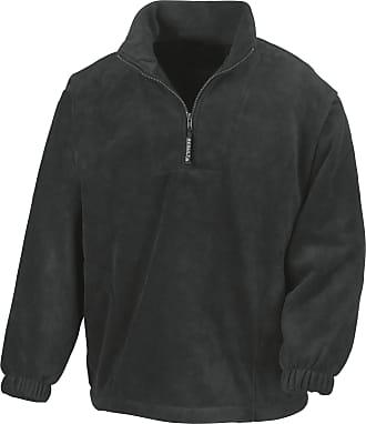 Result Unlined Active 1/4 Zip Anti-Pilling Fleece Top (3XL) (Black)