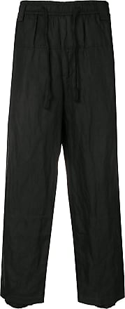 Ziggy Chen creased cropped trousers - Black