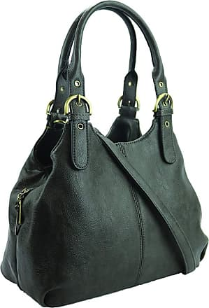 Craze London New Womens Multiple Pockets Medium Size Long Strap Shoulder Bag,bag with strap womens and lady bags long shoulder (Dark Grey)