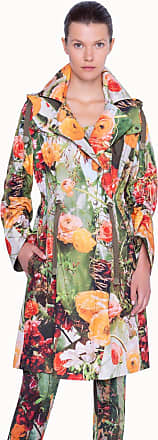 Akris Parka with Floral Print and Detachable Hood