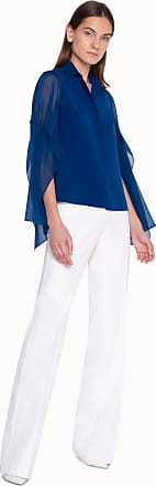 Akris Light Blouse in Silk with Georgette Sleeves