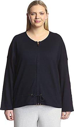 Joan Vass Womens Zip Front Jacket, Indigo 1X