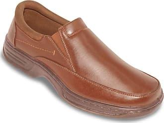 Cushion-Walk Mens Wide Fit Slip On Shoe with Gel Pad Tan 12 UK