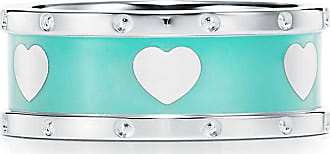 Tiffany & Co. Return to Tiffany Love narrow heart ring in sterling silver with enamel finish - Size 4