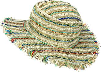 Loud Elephant Frayed Brim Hemp Sun Hat - Multi Stripe