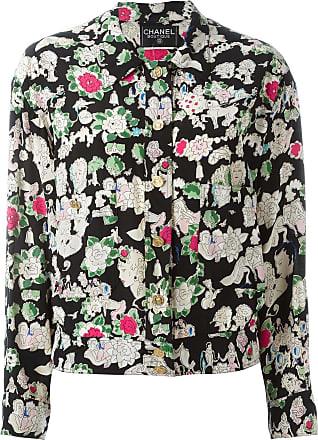Chanel floral print jacket - Black