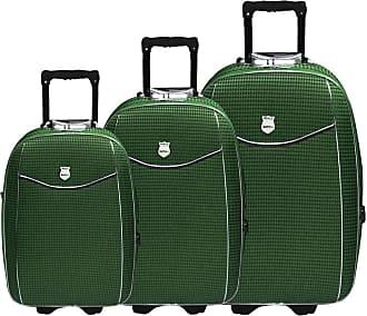 Batiki Conjunto Malas de Viagem Batiki Expansível Verde - Verde
