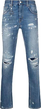 Department 5 Calça jeans skinny com efeito destroyed - Azul