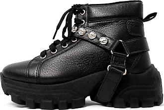Damannu Shoes Tênis Chunky Alexia Craquelê Preto - Cor: Preto - Tamanho: 37