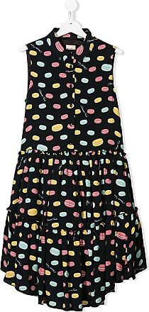 Elisabetta Franchi La Mia Bambina TEEN macaron print dress - Black
