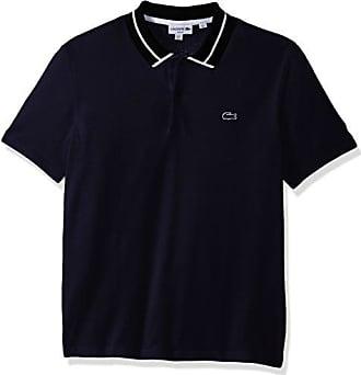 54e8e4d36 Lacoste Mens Short Sleeve 3 Plys Heavy Pique Polo with White Outline Croc