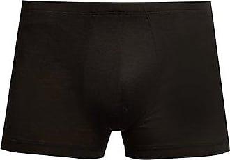 Zimmerli Royal Classic Cotton Boxer Trunks - Mens - Black