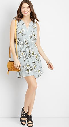 Maurices Floral V-Neck Tie Waist Dress