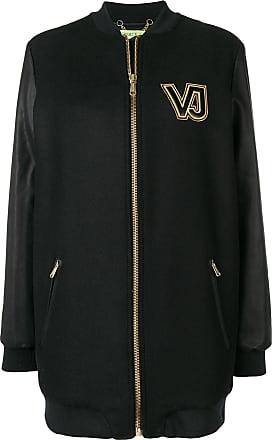 e55a7482a318 Versace Jeans Couture contrast logo zipped coat - Black