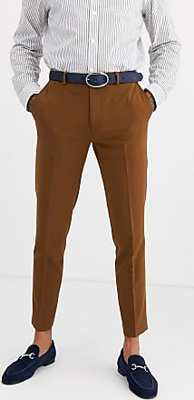 Burton Menswear skinny fit trousers in tan-Brown