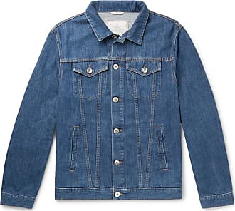 Brunello Cucinelli Stretch-denim Jacket - Dark denim