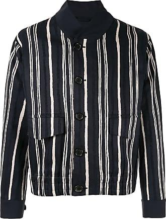 Cerruti striped print jacket - Blue