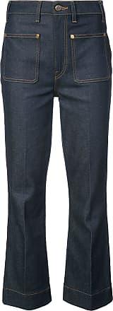 Khaite Calça jeans cropped Raquel - Azul