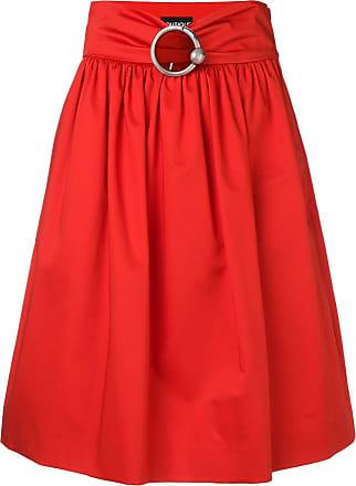 Moschino jupe mi-longue à taille ceinturée - Rouge 772a981cd324