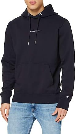 Calvin Klein Jeans Mens INSTIT Chest Logo REG Hoodie Sweatshirt, Blue (Night Sky Chw), XX-Large (Size:XXL)