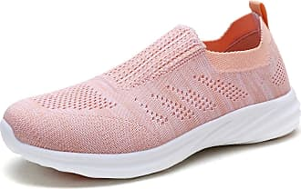 Dream Pairs Womens Slip On Trainers Mesh Lightweight Casual Walking Nursing Shoes 171114-W Shell Pink B.Pink Size 7.5 US / 5.5 UK